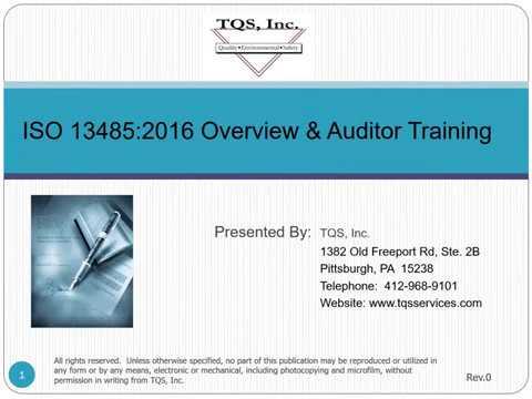 ISO 13485:2016 Demo