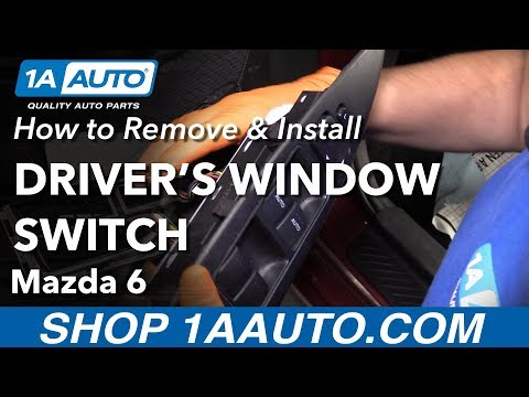 How to Replace Master Window Switch 06-08 Mazda 6