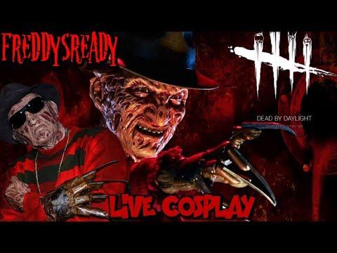 Dead By Daylight - Freddy Krueger with Freddy Krueger Cosplay