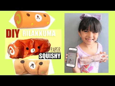 DIY RILAKKUMA SWISS ROLL PAPER SQUISHY | Tiffy Spiffy LA