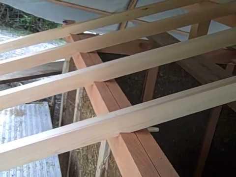 El techo luego de haber puesto las vigas youtube - Vigas de madera para techos ...