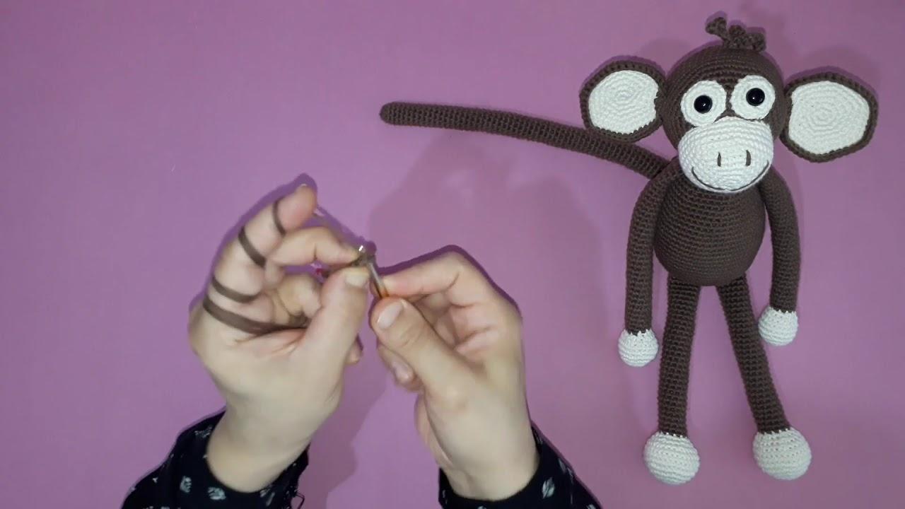 Amigurumi maymun yapımı örgü oyuncak maymun yapılışı amigurumi maymun kuyruk yapımı -09