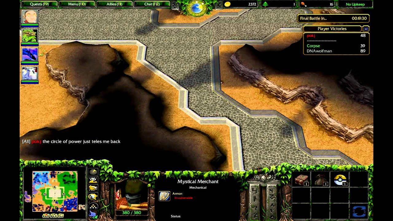 MVC=) Warcraft 3 Custom Games: Pokemon World - YouTube