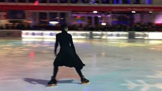 """Johnny Weir performing """"Creep"""" at Glitter, Glam and Gold Skate Night at Bryant Park 1/11/2018"""