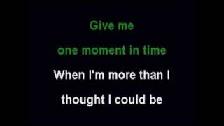 One Moment In Time - Karaoke