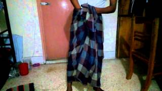 How to wear a Lungi
