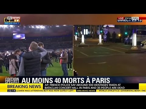 Paris Attack | Stade de France Pitch Floods With Spectators