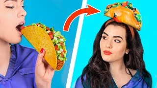 10 Gesunde vs Junk Food Schmuck Herausforderung! / Günstige Und Einfache DIY Schmuck Ideen