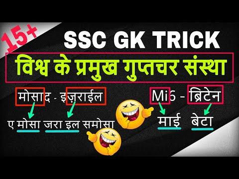 #gk tricks / विश्व की प्रमुख गुप्तचर संस्थाएँ/ world's leading intelligence agencies /online school