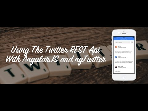 how to easily use the twitter rest api with angularjs youtube