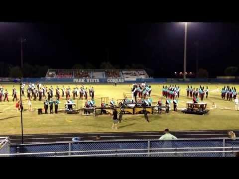 Jensen Beach High School Band @ Striking Cobras Invitational, October 12, 2013.