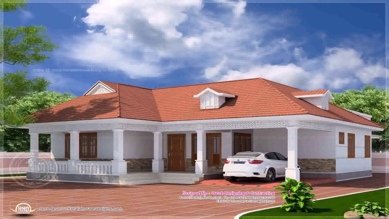 Traditional kerala house elevations for Single floor house plans kerala style