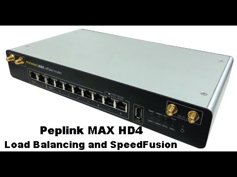 Peplink MAX HD4 - Cellular Load Balancing and SpeedFusion Bonding