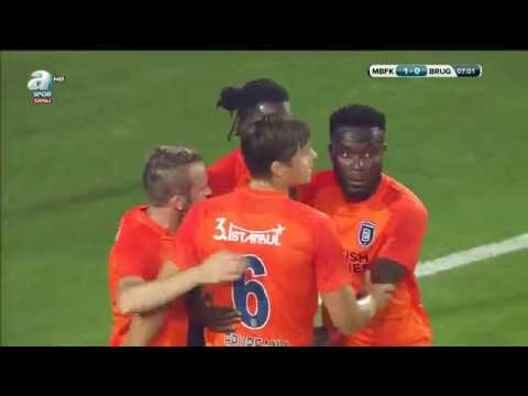 Medipol Başakşehir 1 - 0 Club Brugge DK:7 (Adebayor)