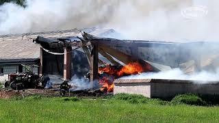 NA SYGNALE Pożar stodoły oraz obory w Brzozowo Kolonia
