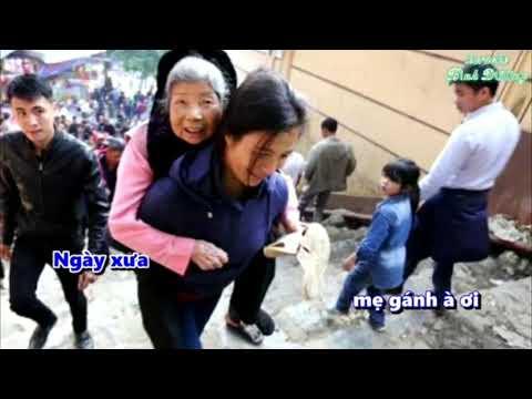 [ Karaoke ] Gánh Mẹ - Quách Beem ( Hạ Tone ) | Karaoke Bình Dương