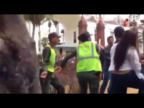 JUAN REQUESENS AGREDE A FEMENINA DE LA GUARDIA NACIONAL
