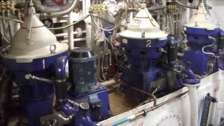 General cargo ship engine room tour