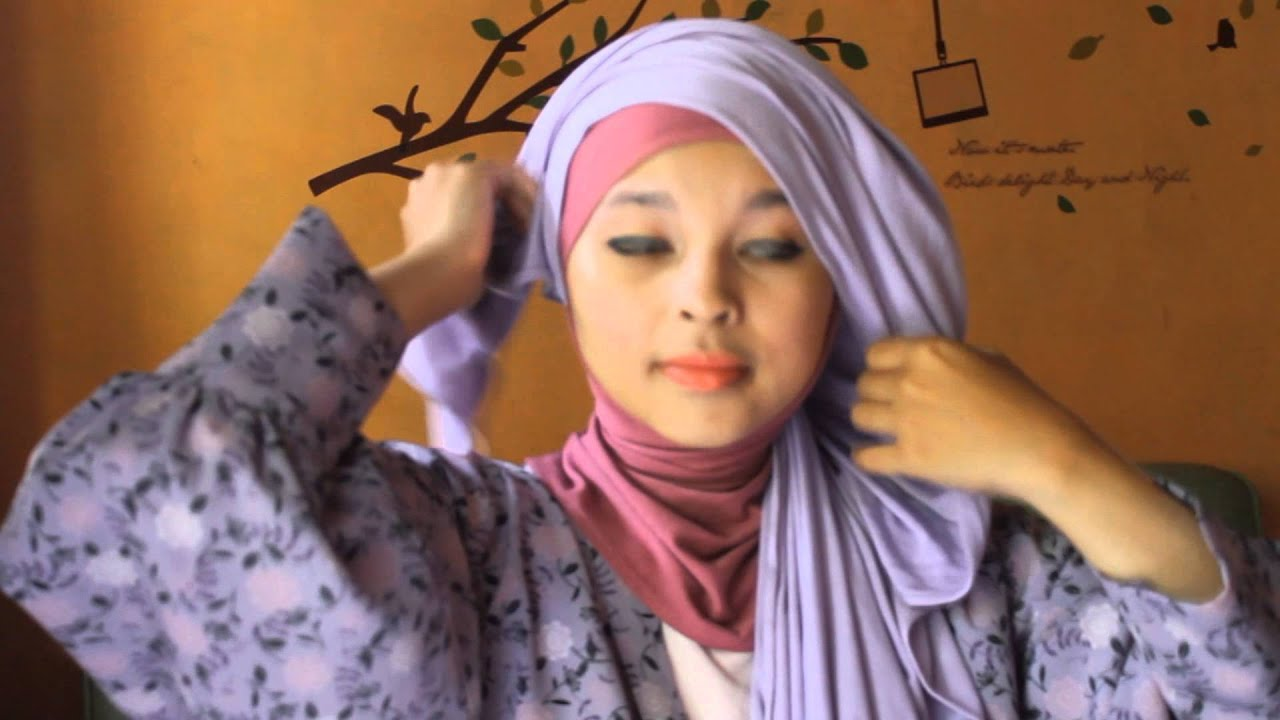 Hijab Tutorial Pashmina Kaos 2 By Akhwat Alnisa YouTube