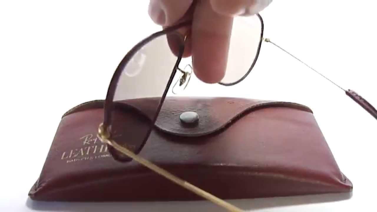 gafas ray ban de piel