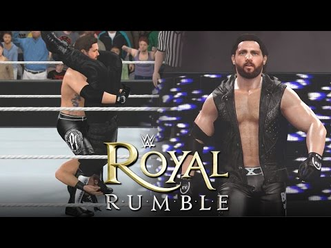 WWE 2K16 Royal Rumble 2016 : AJ Styles Debuts & Wins The WWE Championship