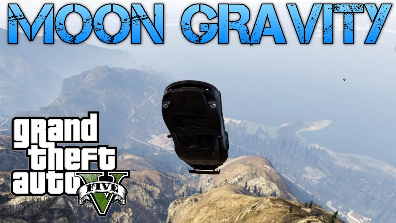 Grand Theft Auto V   FUN WITH MOON GRAVITY   MAKING CARS FLY!