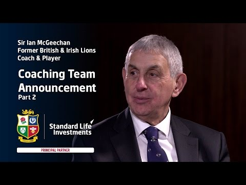 Coaching Team Announcement (II): Sir Ian McGeechan talks to Scott Hastings.