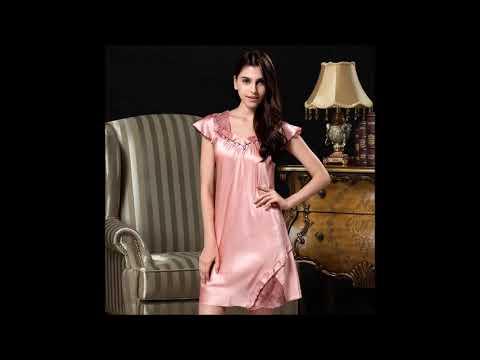 Women s Silk Nightgowns Silk Nighties Silk Sleepwear - Panda Silk - YouTube d64c8ee9c