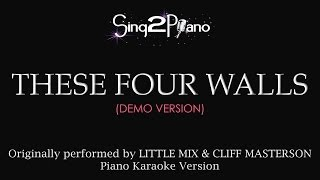 These Four Walls (Piano Karaoke Version) Little Mix Mp3