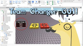 Roblox- Come fare un team Changer GUI