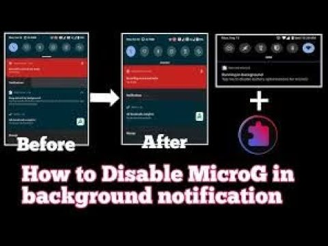How to remove MicroG in background notification in Oneplus