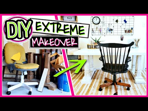 DIY Trash To Treasure - EXTREME Craft Room Makeover Episode One