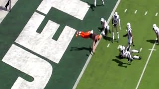 Browns QB Josh McCown Gets Lit Up, Fumbles as He Dives for End Zone vs Jets