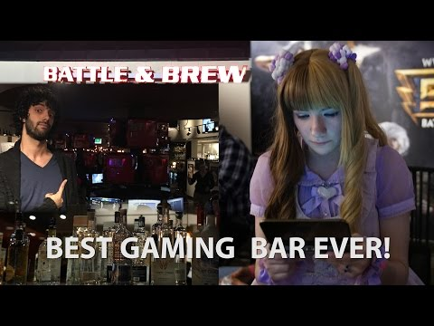 THE BEST GAMING BAR EVER - Battle and Brew