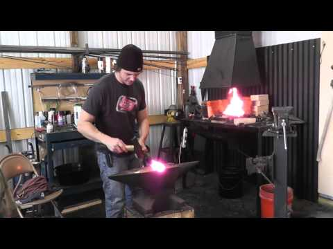 Forging a Knife from a Lawnmower Blade PartA.