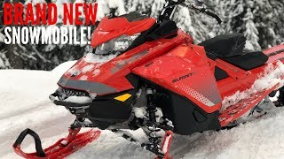 MY DAD BOUGHT ME A BRAND NEW SNOWMOBILE!!!