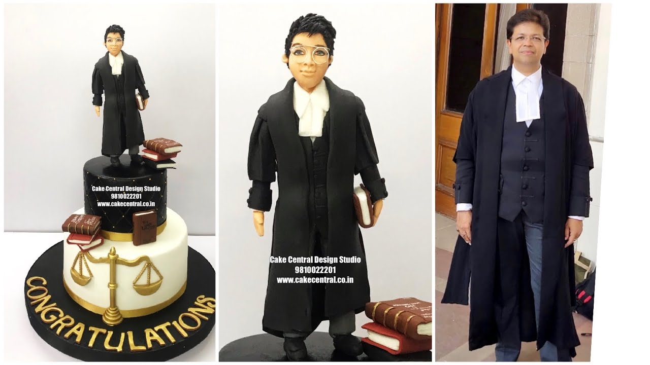 Lawyer Cake in Delhi Online | Lawyer theme Birthday Cake Ideas | Cake Central Design Studio