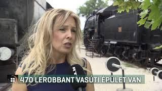 470 lerobbant vasúti épület van 19-07-12