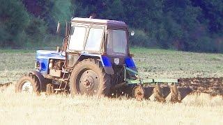 МТЗ-82 «Беларус» начинает пахать, ЮМЗ-6 закончил дисковать. #СельхозТехника_ТВ №40