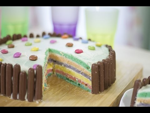 rainbow cake - youtube