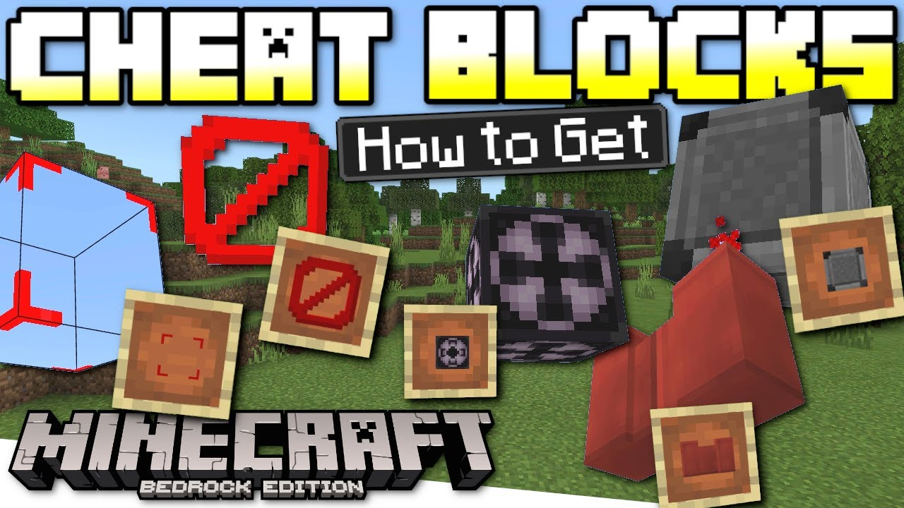 Minecraft Bedrock How To Get Secret Cheat Blocks In Survival Glitch Xbox Ps4 Window Switch Youtube