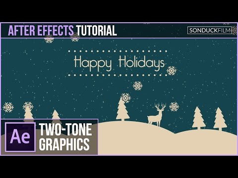After Effects Tutorial: Two-Tone Holiday Motion Graphics