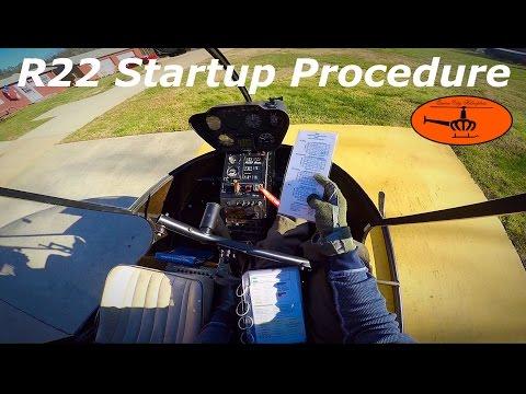 Robinson R22 Startup Procedure