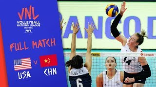 USA v China - Full Match - Semi Final | Women's VNL 2018