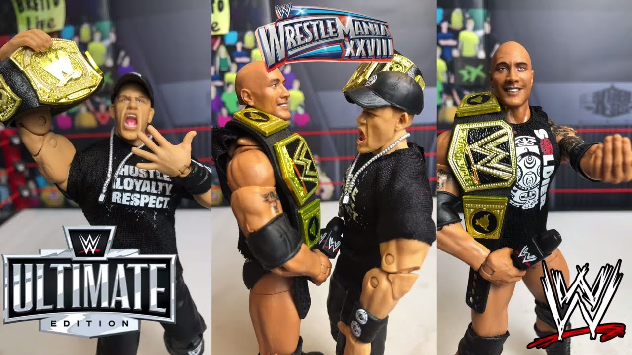 WWE Ultimate Edition The ROCK + JOHN CENA action figure Review