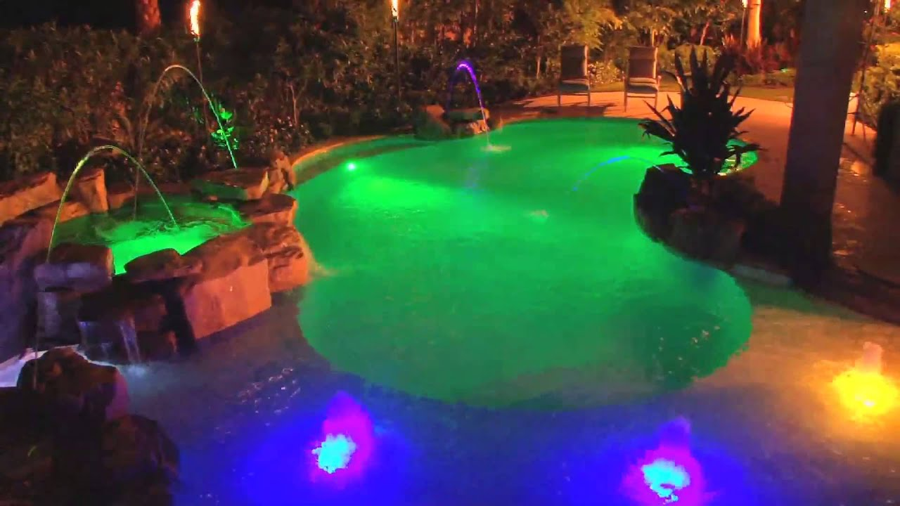 Intellibrite 5g Led Color Changing And White Pool Lights By Pentair Mp4 You