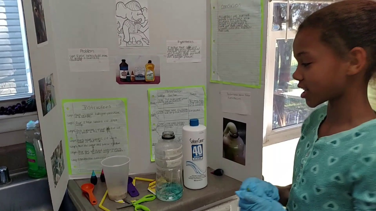 science fair project- elephant toothpaste
