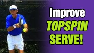 Tennis Serve - Practice And Improve Your Topspin Serve