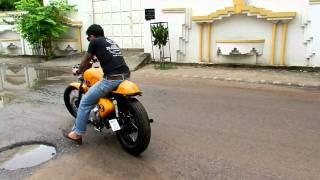| Rajputana Custom Cafe Racer Chingari Test Ride