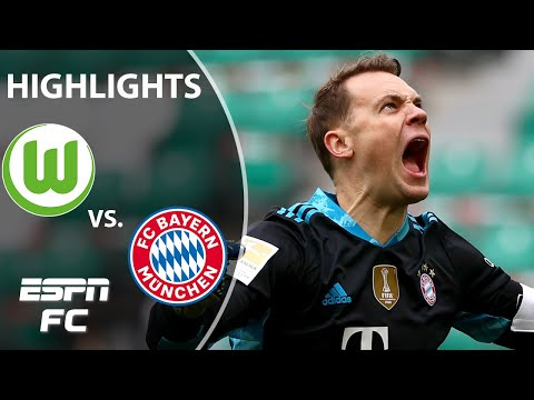 Bayern Munich holds on at Wolfsburg on to extend lead in title rice | ESPN FC Bundesliga Highlights